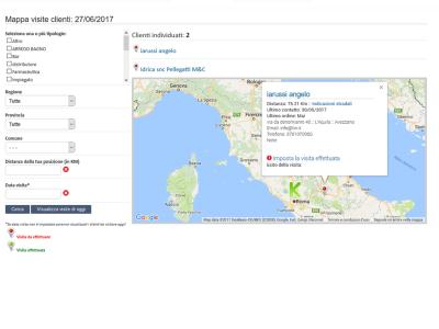 Geolocalizzazione Visite Clienti